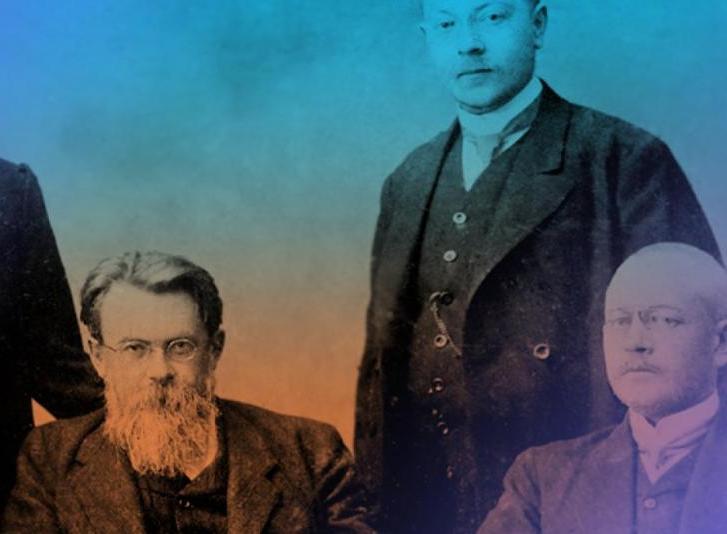 В.И.Вернадский со своими соратниками